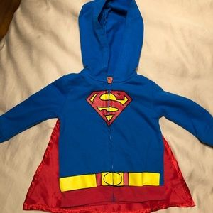 Other - Superman Hoodie with Detachable Cape